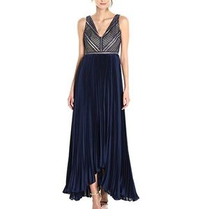 Adriana Papell Eyelet Lace and Chiffon Combo Gown